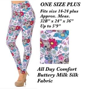 BUTTERY SOFT Spring/Summer One Size Plus leggings